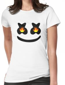 Funny Smile Marshmello Womens Fitted T-Shirt