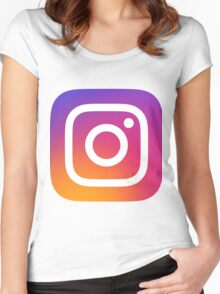 New Instagram LOGO Women's Fitted Scoop T-Shirt