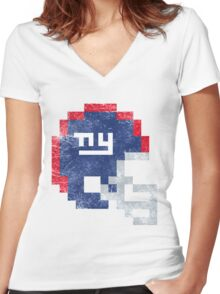 NYG - Helmet Women's Fitted V-Neck T-Shirt