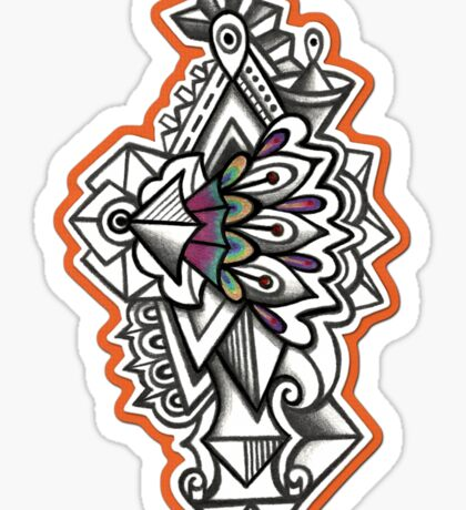 Abstract Dimensions (Color) Design 040 Sticker