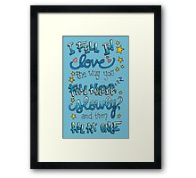 Fell In Love Framed Print