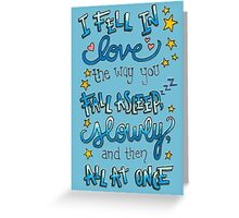 Fell In Love Greeting Card
