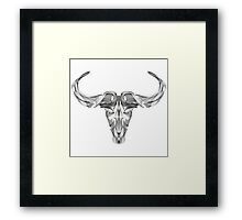 Animal Skull Line Art Framed Print