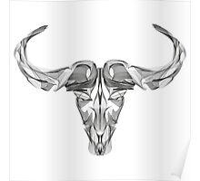 Animal Skull Line Art Poster