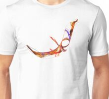 Fractal - Flying Swan Unisex T-Shirt