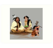Crazy Horse and his daughter  Art Print