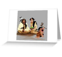 Crazy Horse and his daughter  Greeting Card