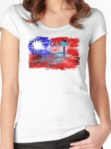 Taiwan Taipei Women's Fitted Scoop T-Shirt