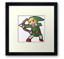Crouching Bow Hidden Link Framed Print