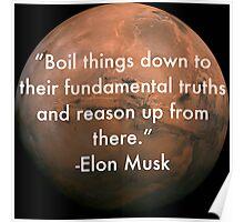 Elon Musk Fundamental Quote Poster