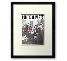 Political Party Shades & Red Cups Framed Print