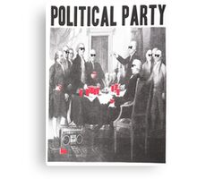 Political Party Shades & Red Cups Canvas Print