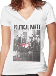 Political Party Shades & Red Cups Women's Fitted V-Neck T-Shirt