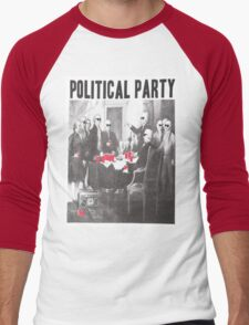 Political Party Shades & Red Cups Men's Baseball ¾ T-Shirt