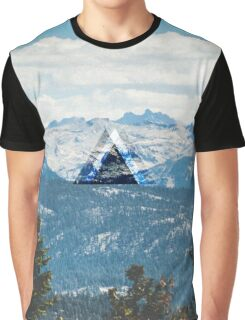 Gradient Mountains Graphic T-Shirt