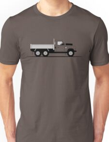 A Graphical Interpretation of the Defender Dropside Tipper 6x6 Unisex T-Shirt