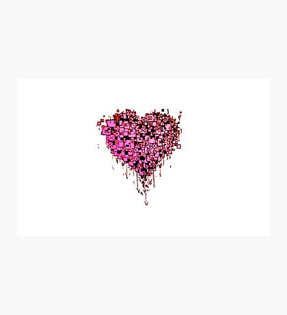 Graffiti Heart Red Photographic Print