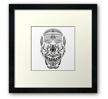 Human Skull Line Art Illustration Framed Print