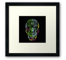 Human Skull Line Art Illustration Framed Print