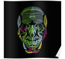 Human Skull Line Art Illustration Poster