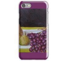 Fruit on a plate iPhone Case/Skin