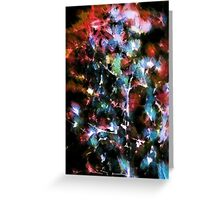 Abstract pattern with watercolor spots Greeting Card