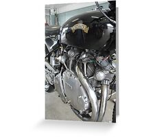 Motorbike, Vincent Greeting Card