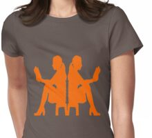 Ladies Love Reading: Orange Womens Fitted T-Shirt