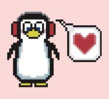 Valentine Penguin Kids Tee