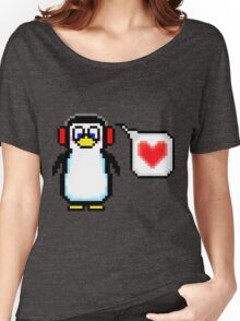 Valentine Penguin Women's Relaxed Fit T-Shirt