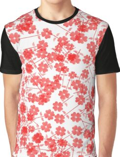 Red Floral Drop Graphic T-Shirt