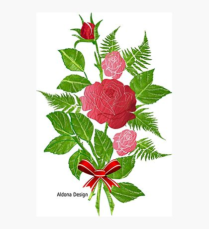 Roses & Ferns   (1459 Views) Photographic Print