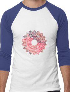 Mandala watercolor  Men's Baseball ¾ T-Shirt