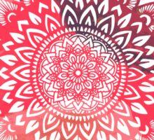 Mandala red Sticker