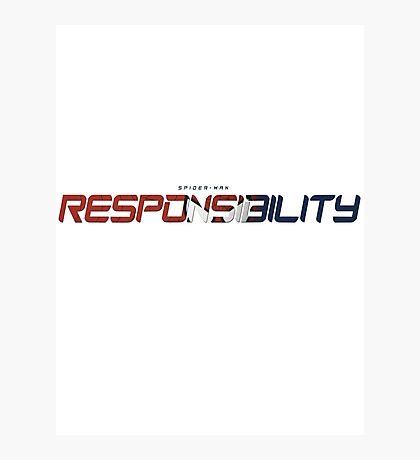 Spider-Man - Responsibility Type Photographic Print