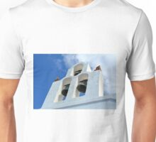Three church bells from Santorini, Greece Unisex T-Shirt