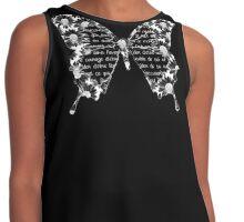 Papillon blanc sur fond noir Contrast Tank