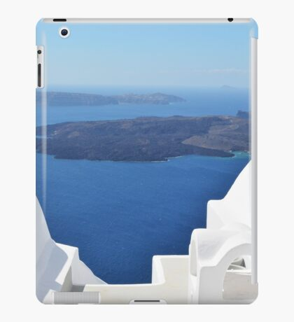 White cylindrical roofs in Santorini, Greece iPad Case/Skin