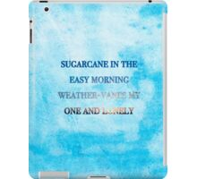 Sugarcane - Blue Watercolor Background (Smaller) iPad Case/Skin