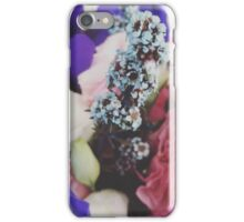 Floral photograph purple pink and blue iPhone Case/Skin