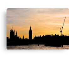 London Sunset - The Spiked City Canvas Print