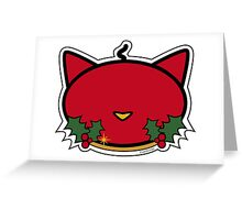 Meow Christmas Red Candle Greeting Card