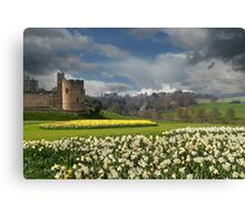 Alnwick Castle in the Spring Canvas Print