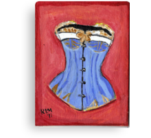 Baby Blue Bustier' Canvas Print