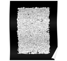 Alphabet Soup Black and White Poster
