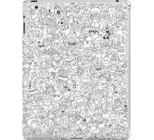 Alphabet Soup Black and White iPad Case/Skin