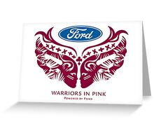 Breast Cancer Warrior t-shirt Greeting Card