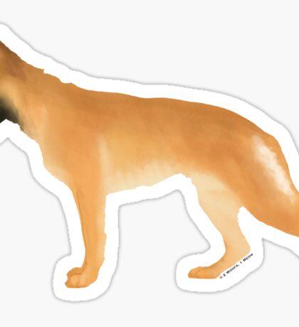 German Shepherd: Golden Sticker