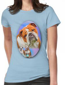 English Bulldog Breed Art Womens Fitted T-Shirt