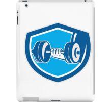 Hand Lifting Dumbbell Shield Retro iPad Case/Skin